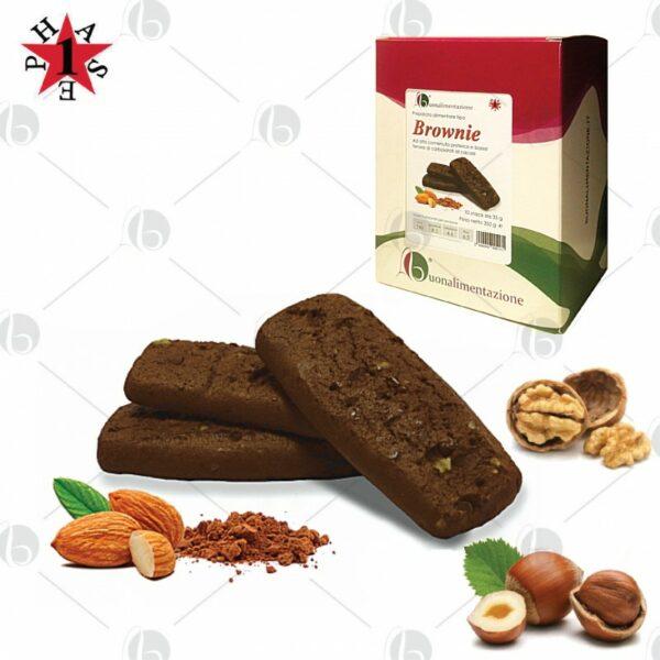 Brownie Proteico Cacao Fase 1 - Box 10 x 35g