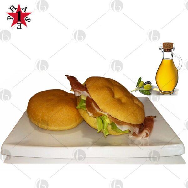 Focaccella proteica all'olio